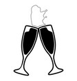pair of cocktail glasses vector image