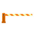 parking barrier icon flat style vector image