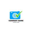 photography check logo designs camera logo vector image vector image
