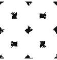 pinscher dog pattern seamless black vector image vector image