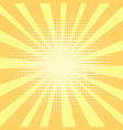 pop art background orange rays of the sun are vector image vector image