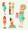 pregnancy motherhood people expectation concept vector image vector image