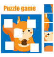 puzzle for toddlers complete the picture with vector image