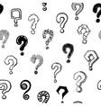 question mark seamless pattern hand drawn vector image vector image