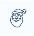 Santa Claus face sketch icon vector image vector image
