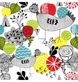 Seamless background with bright elements and cute vector image vector image