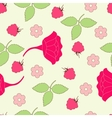 Seamless leafs and berry background vector image