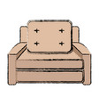 seat sofa comfort element office icon vector image vector image