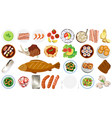 set different food vector image vector image