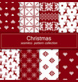 set of seamless fabric eight canvases the vector image vector image