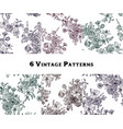 set of vintage floral seamless patterns vector image vector image