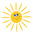 smiling sun on white background vector image