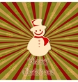 Snowman in Christmas card vector image
