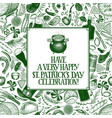 st patricks day design template hand vector image vector image