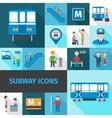Subway Icons Flat vector image vector image