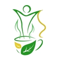 Tea for weight loss vector image vector image