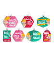 valentine s day sale tags colorful vector image vector image