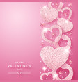 valentines day vertical background with shining vector image vector image