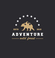 wilderness and nature exploration vintage logo vector image vector image