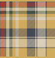 yellow plaid check fabric texture seamless pattern vector image vector image