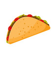 traditional mexican food is taco cartoon image of vector image