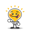 Bulb lamp cartoon isolated showing thumb up on the vector image