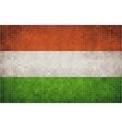Mosaic Flag of Hungary vector image