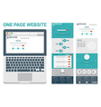 one page website theme vector image