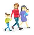 cheerful multiethnic diverse family with happy vector image