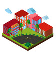 3d design for buildings on the corner vector image vector image