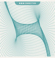 abstract tunnel grid 3d vector image