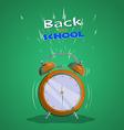 alarm clock back to school 2 vector image