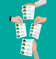 ballot paper with candidates vector image vector image