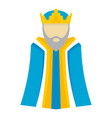 biblical king icon flat style vector image vector image