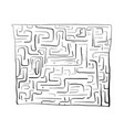black labyrinth on white background vector image