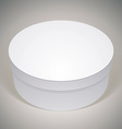 blank round box template for your package design vector image vector image