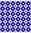 blue and white flower pattern 1 vector image vector image