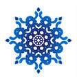 blue floral ornamental vector image vector image