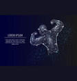 bodybuilder geometric polygonal art style vector image