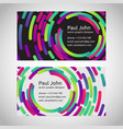 business card template front and back vector image vector image