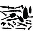 camping tools vector image vector image