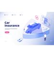 car insurance concept damaged crash fire flood vector image vector image