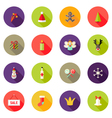 Christmas Circle Flat Icons Set 3 vector image vector image