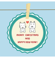 Christmas greeting card37 vector image vector image