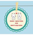 Christmas greeting card37 vector image
