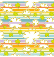 Clover And Rainbow Seamless Pattern vector image