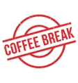Coffee Break rubber stamp vector image