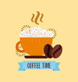 coffee delicious flat vector image