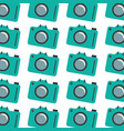 colorful pattern with analog camera vector image