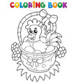 coloring book with easter theme 8 vector image vector image